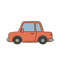 Old style drawn car vector