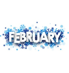 February sign vector