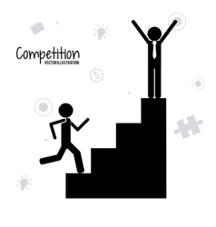 Competitive icon design vector