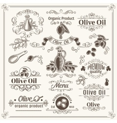 Vintage elements and page decoration design vector