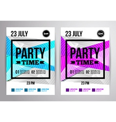 Party flyer design disco template for night club vector