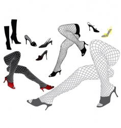 Woman's legs vector image