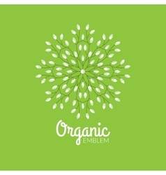 Eco organic emblem logo design template vector