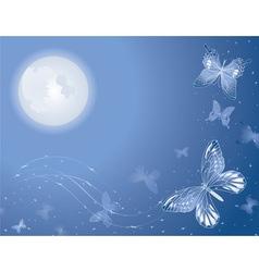 Lunar butterfly vector
