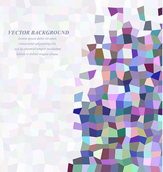 Abstract rectangle tile mosaic background design vector
