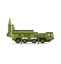 Anti-aircraft missile system rockets and shells vector