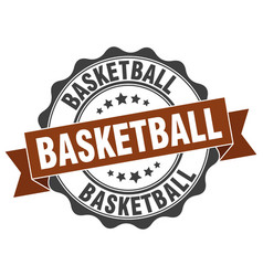 Basketball stamp sign seal vector