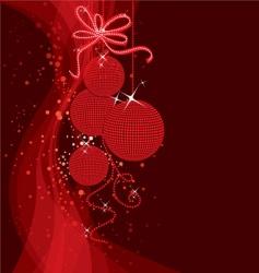 Christmas back vector image vector image