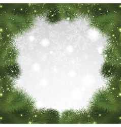 christmas tree background 0108 vector image