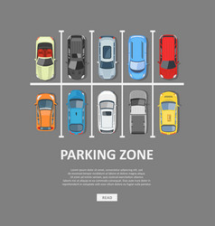 City car parking in flat style vector