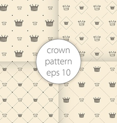 Crown icons set seamless pattern art vector