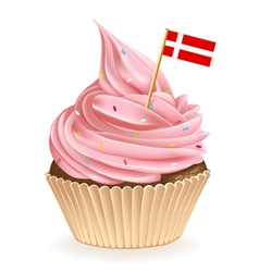 Danish cupcake vector