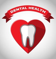 Dental health flyer vector