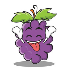 Ecstatic grape character cartoon collection vector