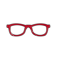 eyeglasses accessory fashion object element vector image