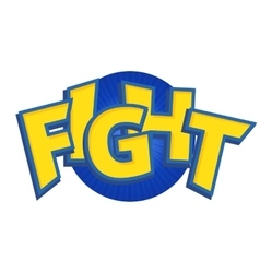 Fight phrases written in a cartoon game vector