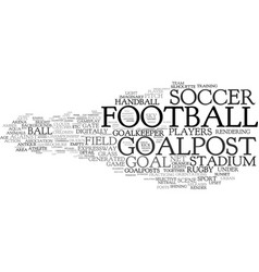 Goalpost word cloud concept vector