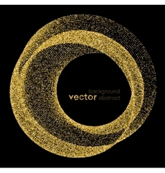 Gold glitter background vector image vector image