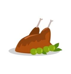 Grilled delicious chicken junk food vector