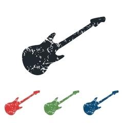 Guitar grunge icon set vector
