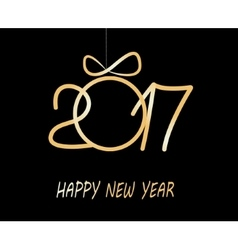 Happy new year greeting card 2017 vector image vector image