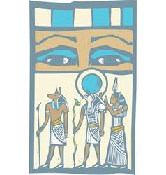 Hieroglyph eyes vector