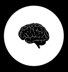 Human brain organ medical simple black icon eps10 vector