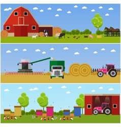 In flat style set of farming vector