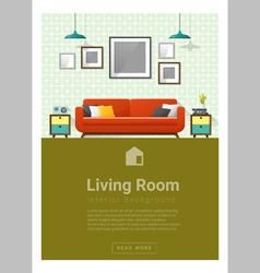 Interior design modern living room banner 4 vector