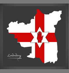 londonderry northern ireland map with ulster vector image vector image