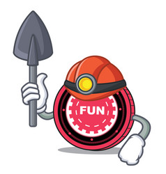 Miner funfair coin mascot cartoon vector