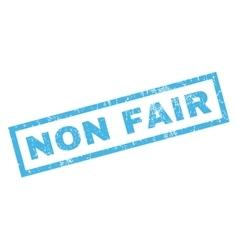 Non fair rubber stamp vector