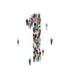 Numbers made of people vector image