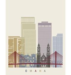 Omaha skyline poster vector