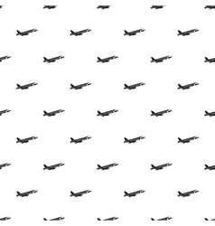 Passenger airliner pattern simple style vector image vector image
