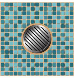 pool floor vector image vector image