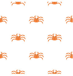 Raw crab pattern seamless vector