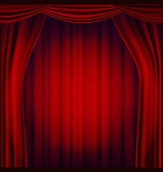 red theater curtain theater opera or vector image vector image