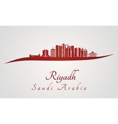 Riyadh v2 skyline in red vector