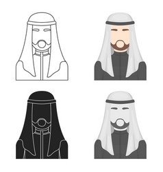 Sheikh icon in cartoon style isolated on white vector