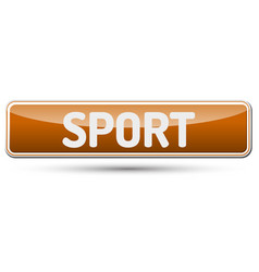 Sport - abstract beautiful button with text vector