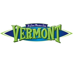 Vermont the green mountain state vector