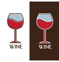 Wine glass design template vector