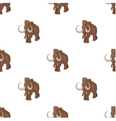 Woolly mammoth icon in cartoon style isolated on vector