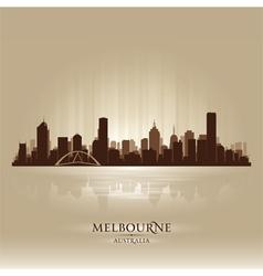 Melbourne Australia skyline city silhouette vector image