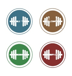 Barbell stamp vector