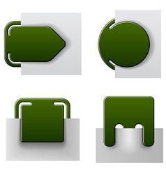 Green attached labels vector