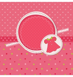 Baby girl shower with dress vector