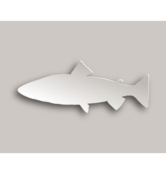 Trout paper style vector