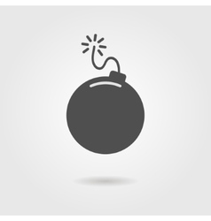 Bomb icon with shadow vector